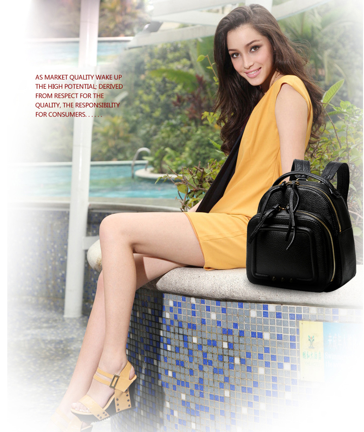 High Quality Leather Backpack RL004