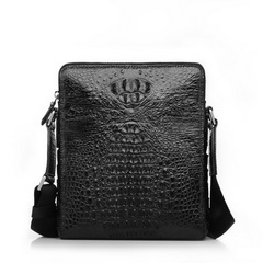High Quality Crocodile Leather Messenger Bag RL042 Black