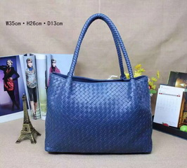 Designer Sheepskin Woven Leather Tote RL1470_5 Colors
