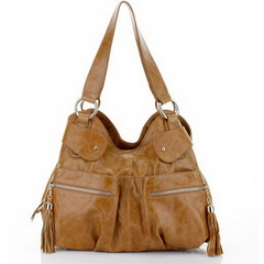 Hot Designer Distress Leather Multifunctional Bag Brown RL070