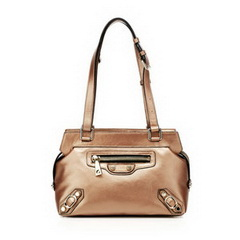 Hot Designer Golden Cowhide Leather Shoulder Bag RL810