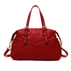 New Fashion Raine Red Cowhide Leather Shoulder Bag RL1045