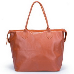 New Style Cowhide Leather Weekend Bag Brown RL9358