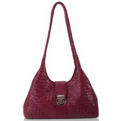 New Style Katy Vintage Woven Calfskin Leather Shoulder Bag RL028