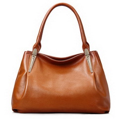 Wholesale Custom Brown Cowhide Leather Shoulder Bag RL1462