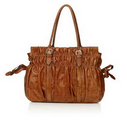 Wholesale Fashion Fabio Brown Distress Leather Shoulder Bag RL1006