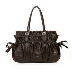 Wholesale Fashion Fabio Chocolate Distress Leather Shoulder Bag RL1006