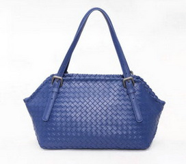 Wholesale Retail Bag Blue Sheepskin Leather Shoulder Bag RL846