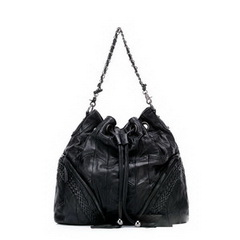 Wholesale Retail Bag Drawstring Sheepskin Shoulder Bag RL1510