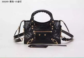 New Style mini Classic First Bag Black Leather B300295 Gold