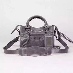 New Style mini Classic First Bag Deep Grey Leather B300295 Black