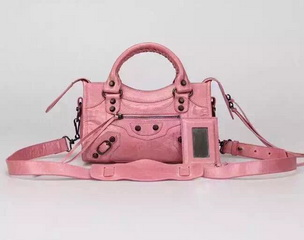 New Style mini Classic First Bag Pink Leather B300295 Black