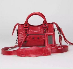 New Style mini Classic First Bag Red Leather B300295 Black