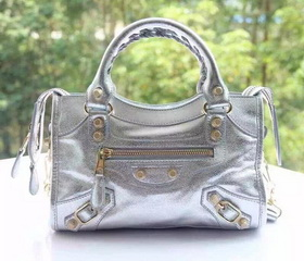 New Style mini Classic First Bag Silver Leather B300295 Gold