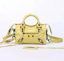 New Style mini Classic First Bag Yellow Leather B300295 Black