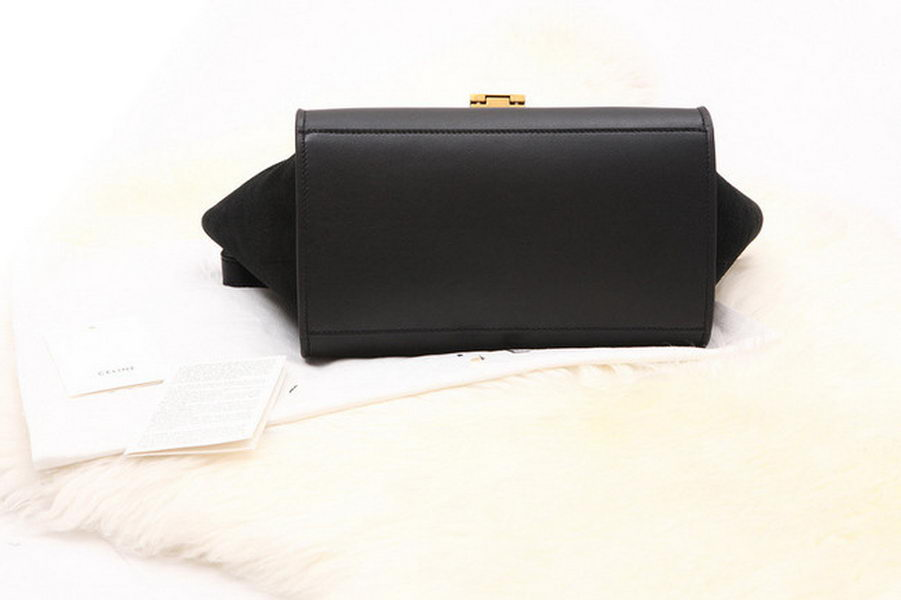Fahsion Style Tote Bag Suede Leather C05 Black