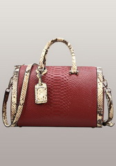 Fashion Croco Leather Top Handle Bag Red