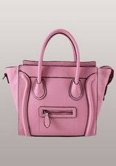 Fashion Luggage Medium Tote Calfskin Leather Pink