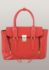 Top Fashion Medium Calfskin Leather Bag Bright Red