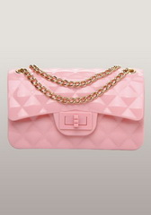 High Quality Patent Leather Mini Flap Shoulder Bag Pink