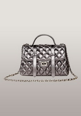 New Style Flap Lambskin Leather Satchel Sliver
