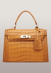 Top Fashion 25CM Shoulder Bag Croco Leather Orange